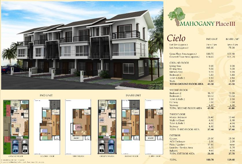 DMCI Mahogany Place 3 Storey House and Lot in Taguig For Sale