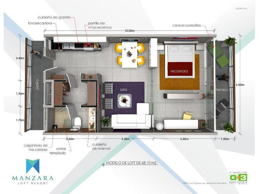 Departamento en Venta en Sabalo Cerritos 3171, Fraccionamiento Cerritos Resort, Mazatlán