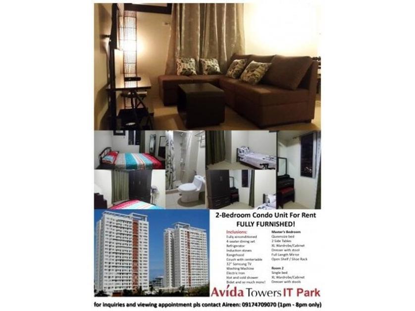 Condominium For Rent in Tower 2 Avida It Park Cebu, Apas, Cebu