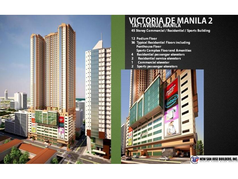 Condominium For Sale in Taft Avenue Corner Malvar Street, Malate District, Metro Manila