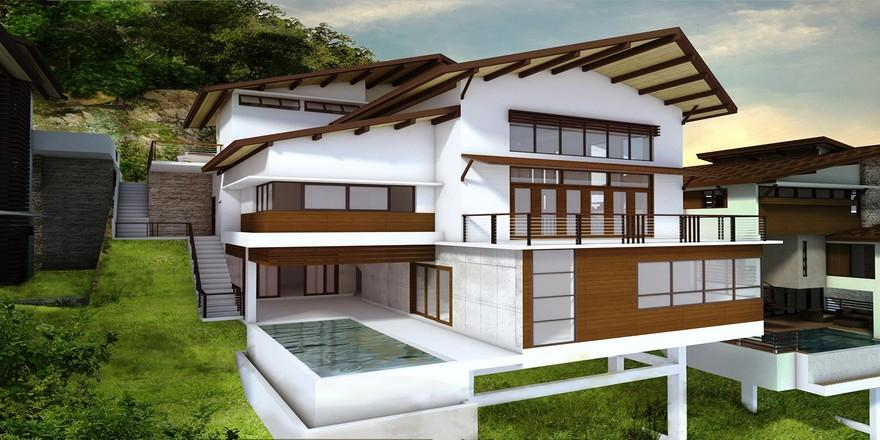 Overlooking House with Swimming Pool For Sale in Cebu City